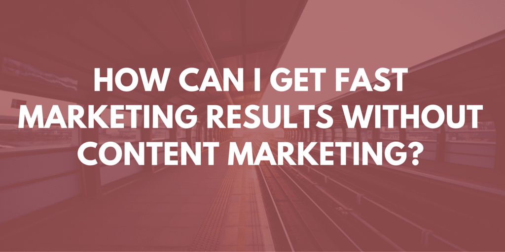 faster results from marketing